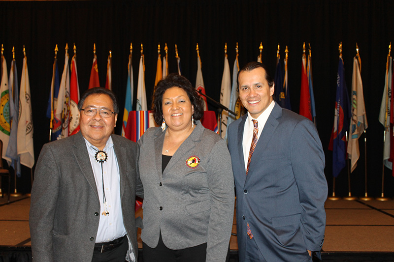 Albert Pooley,  Governor Edwina Butler-Wolfe, Bill Mendoza,  2016 National Forum on Dropout Prevention: Serving Native Students and Tribal Communities, March 6–9, 2016, Oklahoma City, Oklahoma